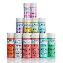 Martha Stewart Crafts™ Acrylic Glitter Paint Set 12pk