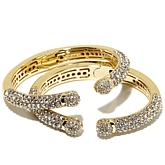 "Joan Boyce Set of 2 ""Mini Kissable"" Cuff Bracelets"