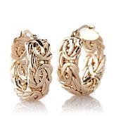 Sevilla Silver Byzantine Hoop Earrings