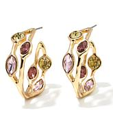 "R.J. Graziano ""Glow On"" Colored Crystal Hoop Earrings"