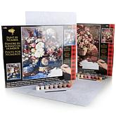 Plaid Paint by Number Set 2-pack - Floral