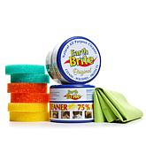 Earth Brite 18.5 oz. Natural All-Purpose Cleaner 2-pack with 6 Sponges and Supreme Cloth
