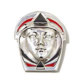 """Nicky Butler Gem and Enamel """"Iconic Noble"""" Pin/Pendant"""
