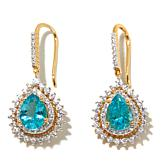 Rarities 4.37ctw Apatite & White Zircon Vermeil Earrings