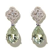 Colleen Lopez 10.24ctw Pear Prasiolite & Topaz Earrings