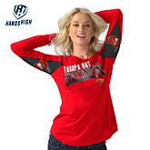 Officially Licensed NFL For Her Hands High Handoff Long-Sleeve Tee by Glll