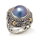 Bali Designs by Robert Manse Mabé Pearl 2-Tone Sterling Silver Ring