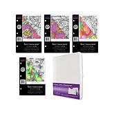 Crafter's Companion Spectrum Noir Rubber Stamp 4-pack