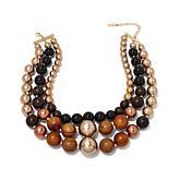 "Rara Avis by Iris Apfel Warm Metallic Bead 19"" Necklace"