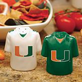 NCAA Gameday Ceramic Salt and Pepper Shakers-Colleges M-Z