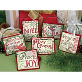 Dimensions Counted Cross-Stitch Ornaments - Christmas Sayings