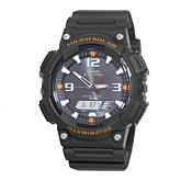 Casio Men's Tough Solar Black Sport Watch with Orange