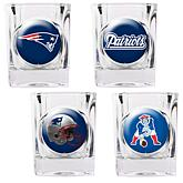 New England Patriots 4pc Collector's Shot Glass Set