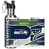 Seattle Seahawks Stainless Steel Water Bottle with Metallic Graphics