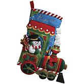 Candy Express Stocking Felt Applique Kit