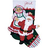 "Dancing Claus 18"" Stocking Felt Applique Kit"