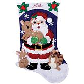 "Forest Friends 16"" Stocking Felt Applique Kit"