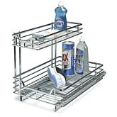 Household Essentials Under the Sink Sliding Organizer - Chrome