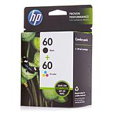 HP 60 2-pack Combo Black and Tri-Color Ink Cartridges