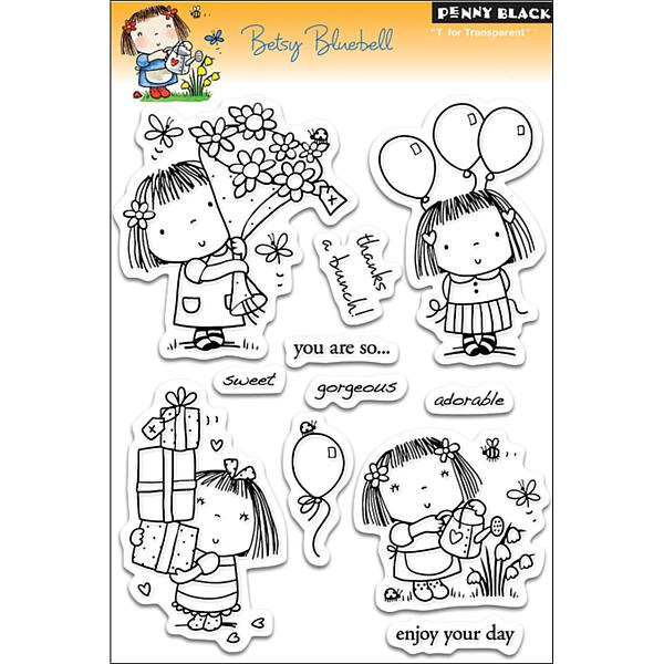 Penny Black Clear Stamps Sheet   Betsy Bluebell