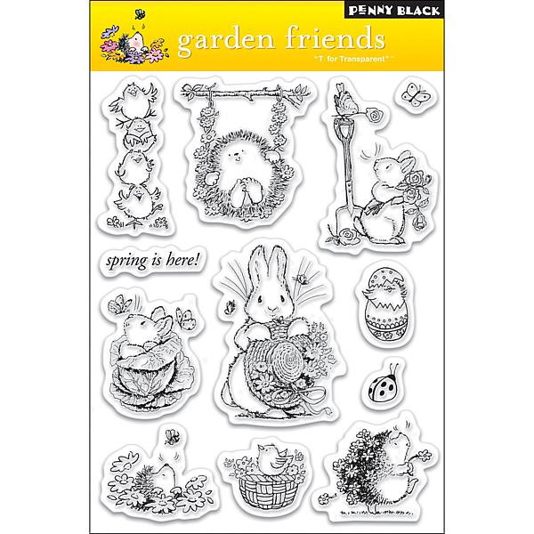 Penny Black Clear Stamps Sheet   Garden Friends