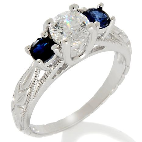 1.03ct Absolute™ and Created Sapphire 3-Stone Ring