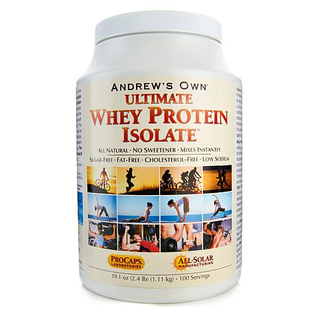 Andrew's Ultimate Whey Protein Isolate - 100 Servings