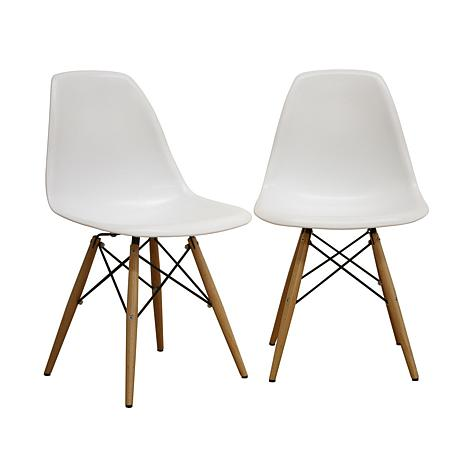 AZZO Plastic Side Chairs - Set of 2