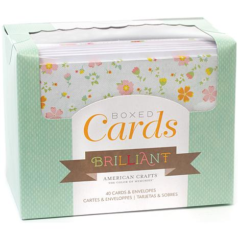 Box of Patterned Cards with Envelopes - Brilliant