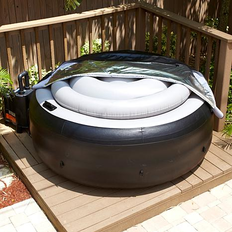 Ez Spa Portable Hot Tub With Cover Hsn
