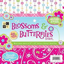 "12"" x 12"" Blossoms and Butterflies Paper Stack"