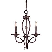 "19"" Medford Chandelier - Oiled Bronze"