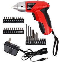 25 piece 4.8-Volt Cordless Screwdriver with LED