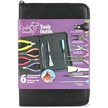 6-piece Beading Tool Kit with Zippered Case