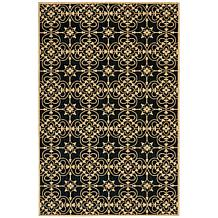 "Andrea Stark Home Collection Gate Wool Rug - 5'3"" x 8'"