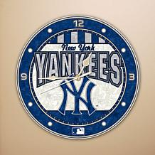 Art Glass Wall Clock - New York Yankees