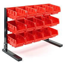 Bench-Top Parts Rack with 15 Bins