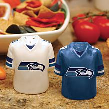 Ceramic Salt and Pepper Shakers - Seattle Seahawks