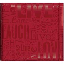 "Gloss Scrapbook 12"" x 12"" - Live Love Laugh - Red"