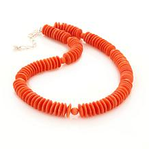 Jay King Salmon Coral Sterling Silver Beaded Necklace