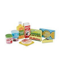 Melissa & Doug Wooden Fridge Food Set