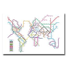 Michael Tompsett 'World Map Subway' Giclee Print