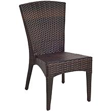 New Castle Wicker-look Outdoor Side Chairs - Set of 2