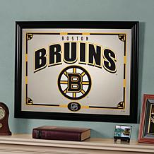 "NHL Sports Team 23"" x 18"" Framed Mirror - Boston Bruins"