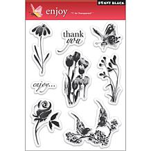 Penny Black Clear Stamps Sheet - Enjoy
