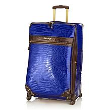 "Samantha Brown 28"" Croco-Embossed Upright with Spinners"