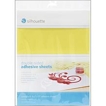 "Silhouette 8.5"" x 11"" Double-Sided Adhesive Sheets"