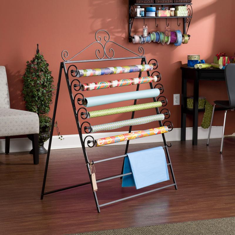 Easel/Wall Mount Craft Storage Rack - Black at HSN.