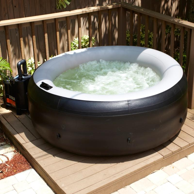 EZ Spa Portable Hot Tub with Cover at HSN.